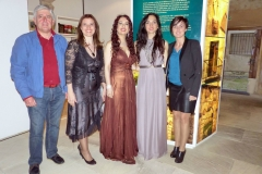 Con las autoridades de Ampuero tras actuación en la Torre del Pino 1