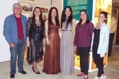 Con las autoridades de Ampuero tras actuación en la Torre del Pino 2