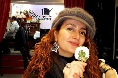 Estrella Cuello antes de actuación en el Palacio de la Audiencia de Soria 2