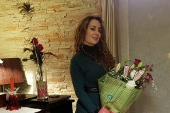 Ramo de flores sorpresa en mi casa de Suances tras actuación
