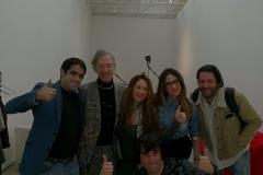Con Martin Creed y equipo en Centro Botín