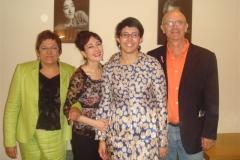 Con la familia Muñoz Bolea en los camerinos del Auditorio de Zgz