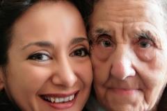 Con mi adorada abuelita Carmen Ballarín tras actuación en el Casino de Huesca