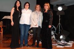 Con las autoridades organizadoras del Festival de Cine de Calamocha