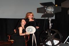 Tras concierto en el Festival de Cine de Calamocha con mi pianista Belén