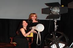 Tras concierto en el Festival de Cine de Calamocha con mi pianista Belén 2