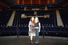 Con la coreógrafa Mª Luisa Martín Horga en el Palacio de Festivales tras actuación en gala dirigida por ambas