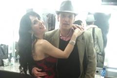 Con el compositor y compañero de estudios Luis Mateo Acín