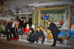 Celebrando la actuación en el Teatro Concha Espina con mis compañeros del Conservatorio