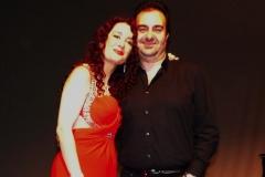 Estrella con su marido Gonzalo Martínez tras actuación