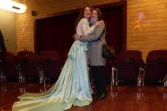 Estrella Cuello tras actuación en el Palacio de la Audiencia de Soria con su alumna Belén Ortega