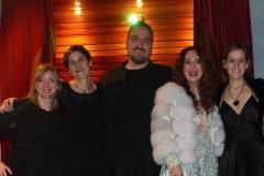Estrella Cuello tras actuación en el Palacio de la Audiencia de Soria con el cuarteto Oreste Camarca 3