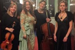 Estrella Cuello tras actuación en el Palacio de la Audiencia de Soria con el cuarteto Oreste Camarca