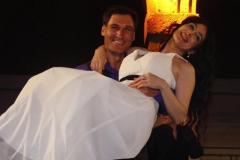 Con el tenor Fran Rivero tras actuación en el patio de la Universidad de Alcalá