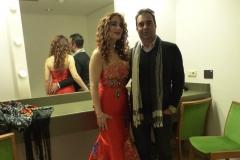En Camerinos del Palacio de Festivales de Cantabria con mi marido Gonzalo Martínez