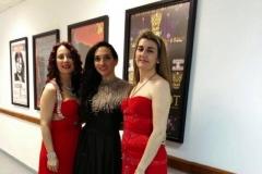En el Teatro Concha Espina tras actuación con la actriz Marta López y la violinista Paula Bolado