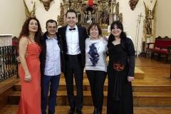 Con las autoridades de Torrellas, tras actuación con el tenor Angel Cortés 1