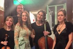 Estrella Cuello tras actuación en el Palacio de la Audiencia de Soria con el cuarteto Oreste Camarca 2