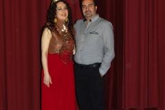 En el escenario del Teatro Municipal Concha Espina con mi marido Gonzalo Martínez