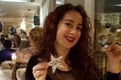 Estrella Cuello celebrando actuación