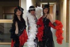 Estrella Cuello con sus alumnas de canto del conservatorio de Soria