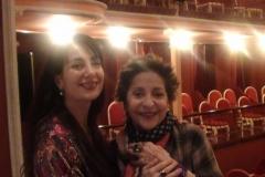 Estrella Cuello y Teresa Berganza en el Teatro de Alcalá