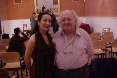 Estrella con el Maestro Miguel Zanetti tras concierto ofrecido en el Palacio de Sástago de Zaragoza