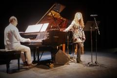 Prueba acústica del recital en el Palacio de la Audiencia con el pianista y maestro repertorista Eliberto Sánchez-Brau