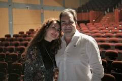 En el Palacio de la Audiencia con mi marido Gonzalo Martínez