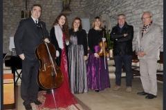 Ensemble con el Alcalde y Concejal de Cultura de Suances tras concierto en Iglesia de Hinojedo