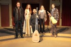 Con Paco Gonzalez y familia, profesor de la Universidad Complutense tras concierto en el Ateneo de Madrid