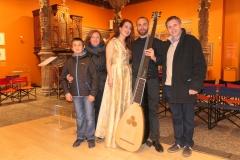 Con la abogada Elvira Fernandez y familia tras concierto en el Patio de la Infanta