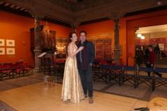 Con mi marido tras concierto en el Patio de la Infanta
