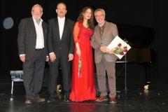Tras concierto en el Palacio de la Audiencia con Jesús Bárez, concejal de cultura de Soria, Antonio Bueno, Decano de la Facultad de Interpretación y Traducción de Valladolid