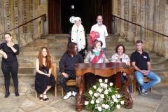 Rueda de Prensa Desembarco Carlos V con Edy Asenjo, Fernando Arce y Alcaldesa de Laredo