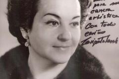 Dedicatoria de la soprano Enriqueta Tarrés, mi Maestra de Canto en el Grado Superior del Liceu de Barcelona