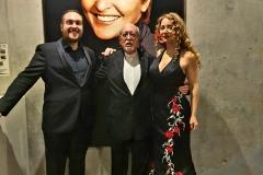 Pablo Puértolas, Miguel Ángel Tapia y Estrella Cuello tras concierto en Auditorio de Zaragoza