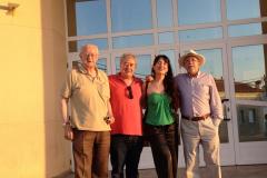 Tapia, Cuello y Monterde tras concierto en Valencia