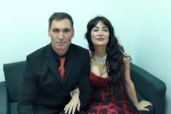 En camerinos de Aragón Televisión tras actuación con el tenor Fran Rivero
