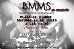 Cartel Amadrinamiento y Concierto Banda Municipal de Música de Suances