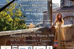 Cartel Conciertos 400 Aniversario Caccini