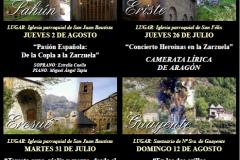 Cartel Sahún 2018 Músicas en la Cima