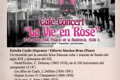 Cartel Semana Cultural Francesa Palacio de la Audiencia de Soria Soprano Española
