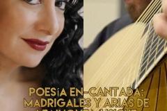 Cartel recital Poesía En-Cantada: Madrigales y Arias de Le Nuove Musiche de Caccini