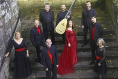 Coro-Ars-Poliphonica-soprano-Estrella-Cuello-barítono-David-Rubiera-y-tiorbista-Francisco-Lopez-en-el-Santuario-de-las-Caldas