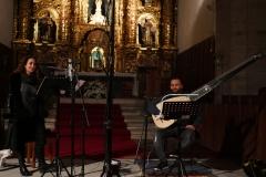 Grabación-disco-Estrella-Cuello-soprano-y-Francisco-Lopez-tiorba-en-el-santuario-de-las-Caldas