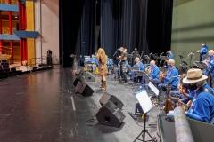 Ensayo en Palacio Festivales con la orquesta Jueves de Boleros