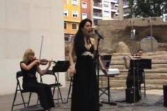 Concierto en el Ciclo Músicas en el Teatro Romano de Zaragoza con el Ensemble Más que Voces