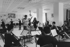 Estrella Cuello soprano ensaya con la Orquesta Asociación Filarmónica de Cantabria y el Ballet Danzasantander