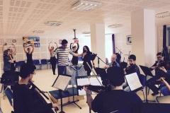 Estrella Cuello soprano ensaya con la orquesta filarmónica de Cantabria y el ballet Danzasantander